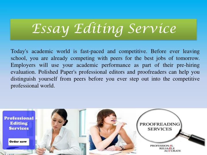 Essay proofreading service