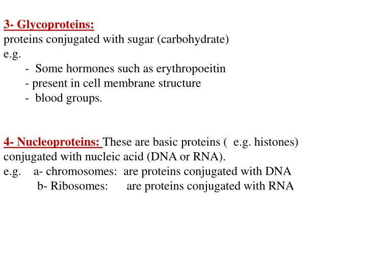 3- Glycoproteins: