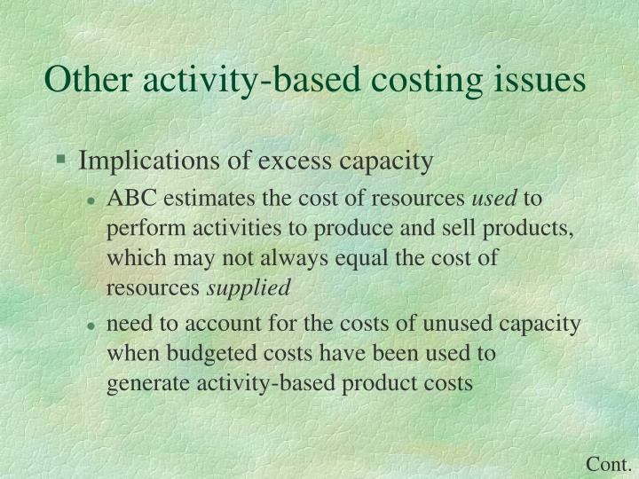 Other activity-based costing issues