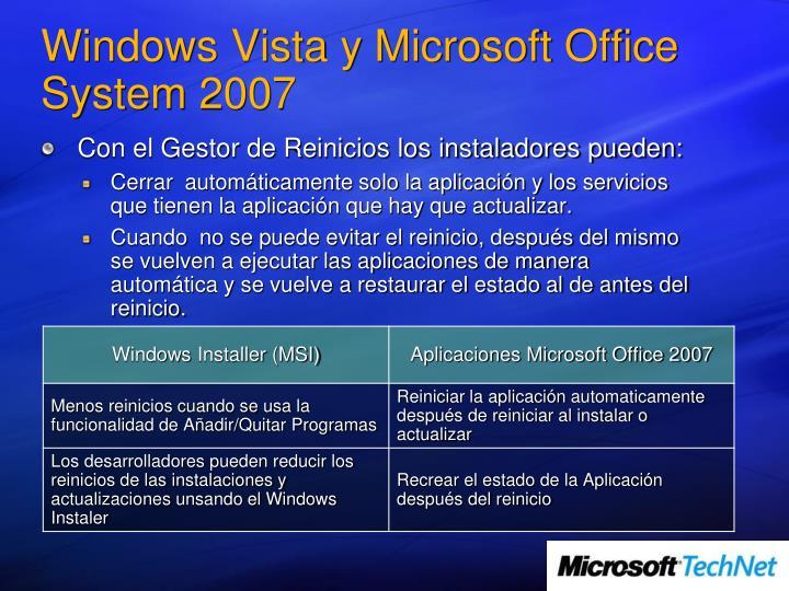 Windows Vista y Microsoft Office