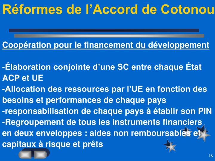 Réformes de l'Accord de Cotonou