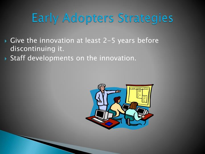 Give the innovation at least 2-5 years before discontinuing it.