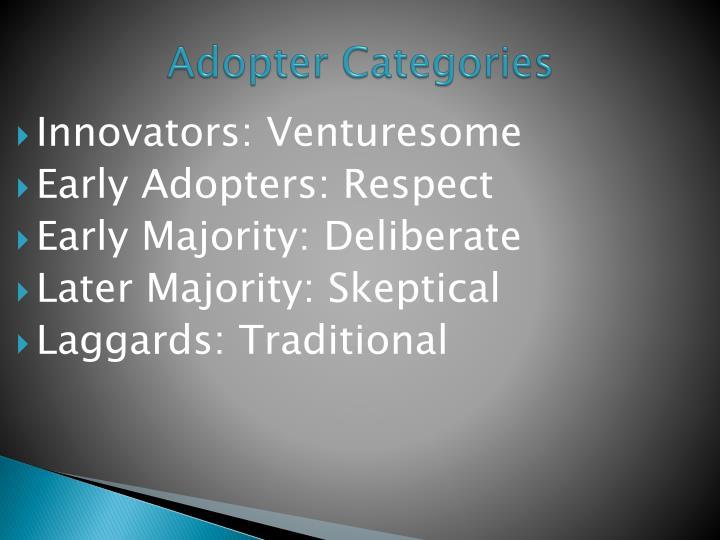 Innovators: Venturesome