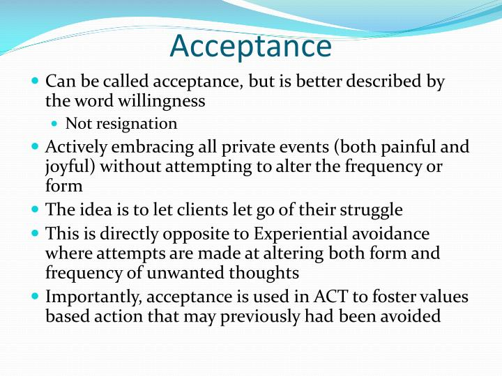 acceptance and commitment therapy values pdf