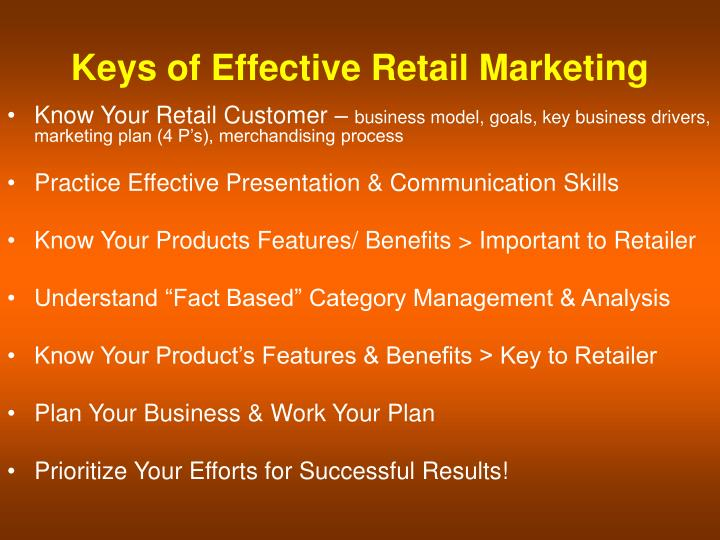 Keys of Effective Retail Marketing