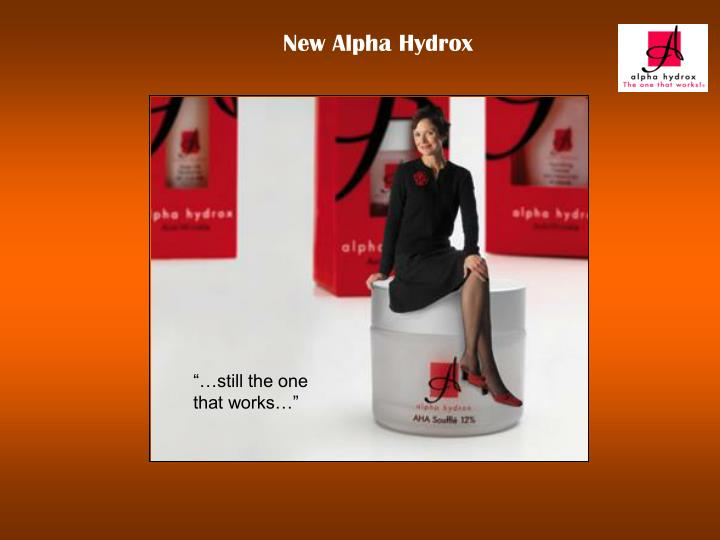 New Alpha Hydrox