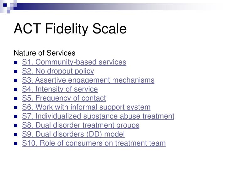 ACT Fidelity Scale
