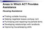 areas in which act provides assistance5