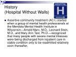 history hospital without walls