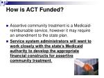 how is act funded