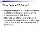 who does act serve1