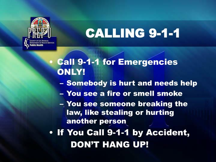 CALLING 9-1-1