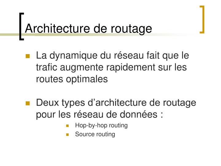 Architecture de routage