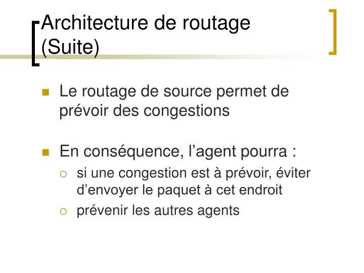 Architecture de routage  (Suite)