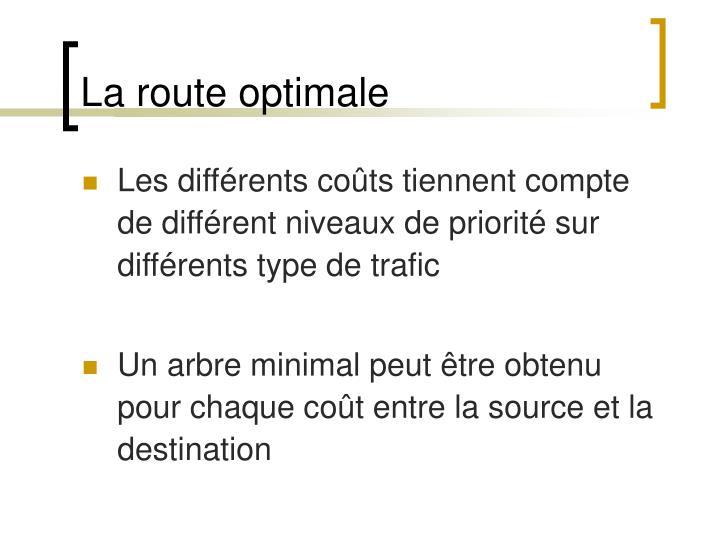 La route optimale