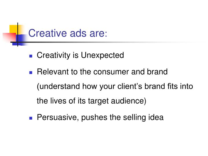Creative ads are