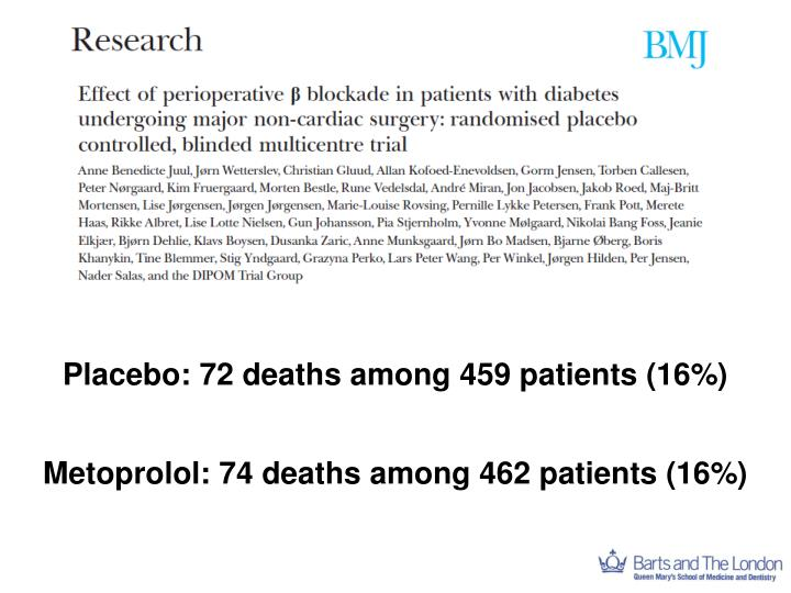 Placebo: 72 deaths among 459 patients (16%)