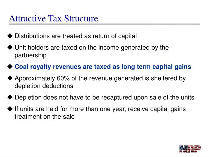 Attractive Tax Structure