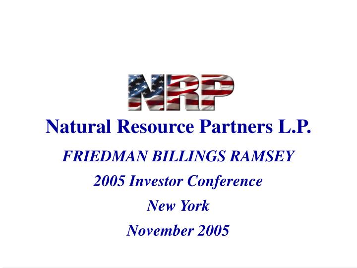 Natural resource partners l p