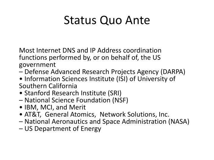 Status Quo Ante