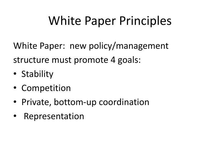 White Paper Principles