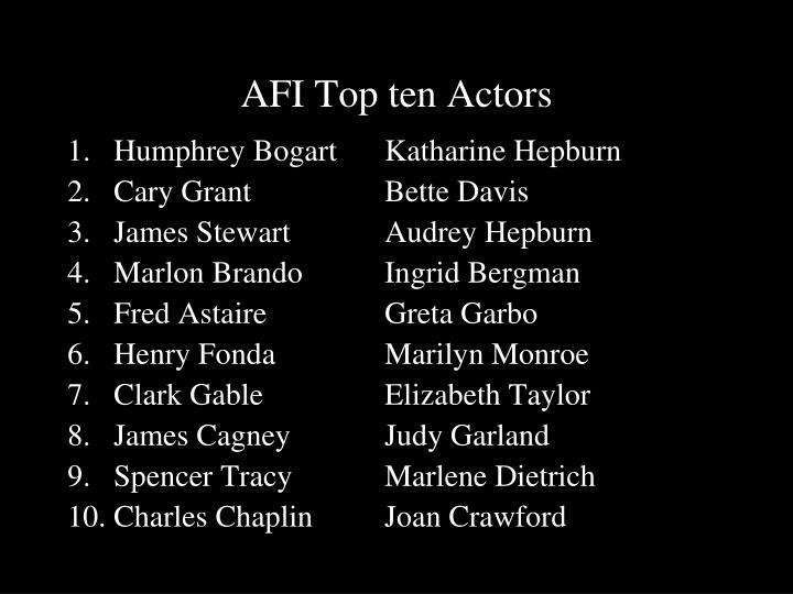 AFI Top ten Actors