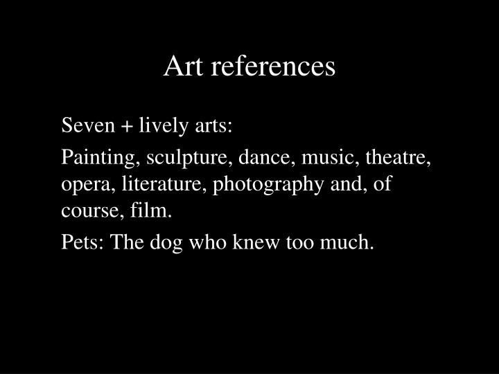 Art references