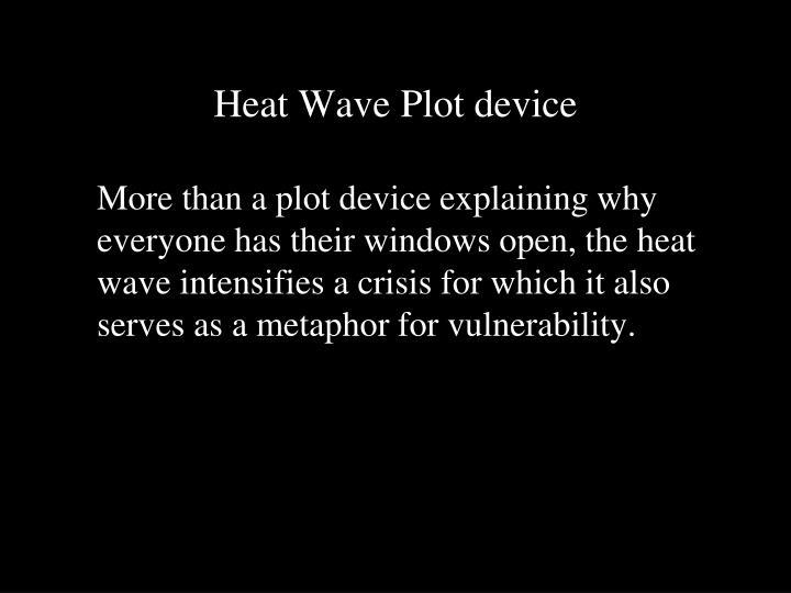 Heat Wave Plot device