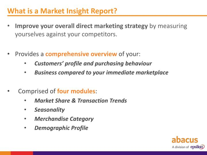 What is a Market Insight Report?