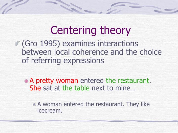 Centering theory