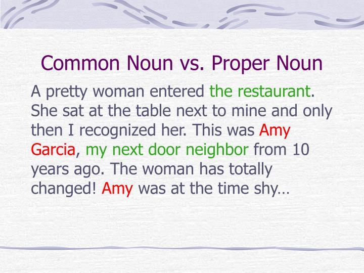 Common Noun vs. Proper Noun