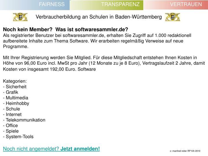 Noch kein Member?  Was ist softwaresammler.de?