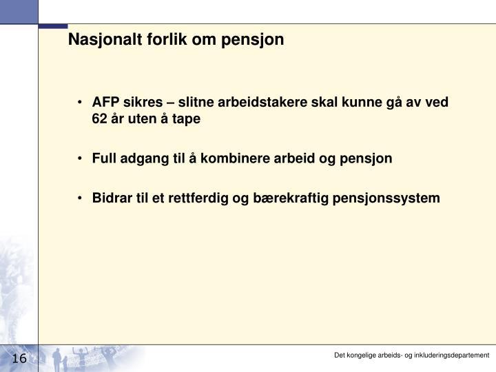 Nasjonalt forlik om pensjon