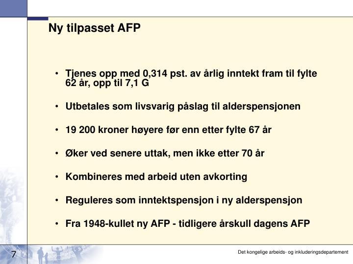 Ny tilpasset AFP