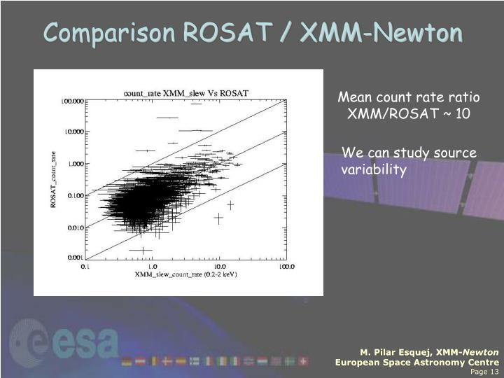Comparison ROSAT / XMM-Newton