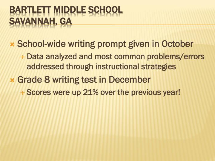School-wide writing prompt given in October