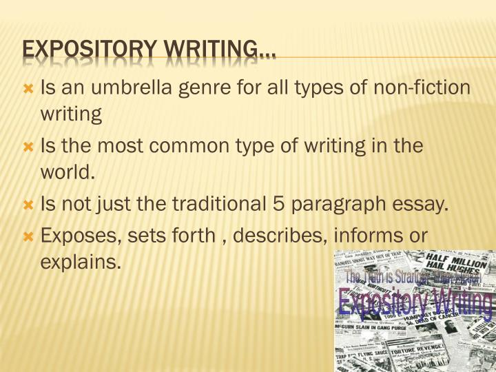 Is an umbrella genre for all types of non-fiction writing