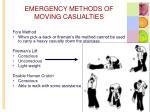 emergency methods of moving casualties1