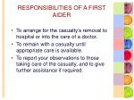 responsibilities of a first aider