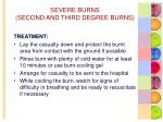 severe burns second and third degree burns
