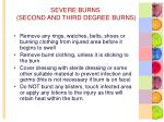 severe burns second and third degree burns1