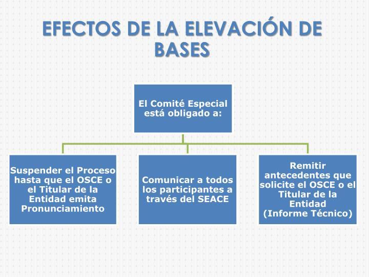 EFECTOS DE LA ELEVACIÓN DE BASES