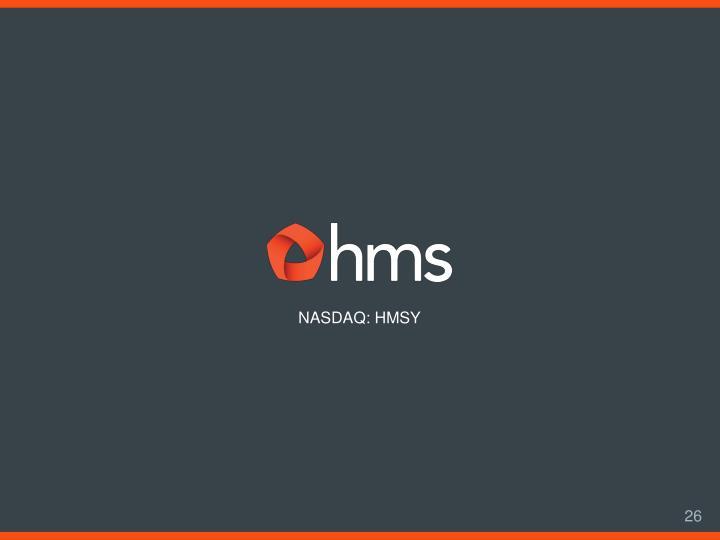 NASDAQ: HMSY