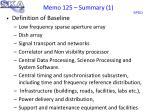 memo 125 summary 1