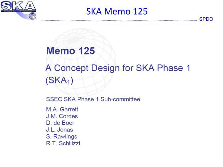 SKA Memo 125