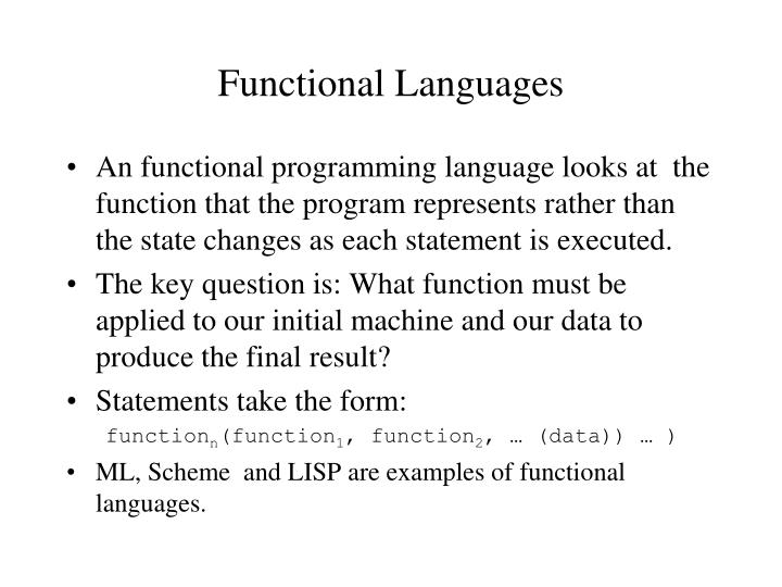 Functional Languages