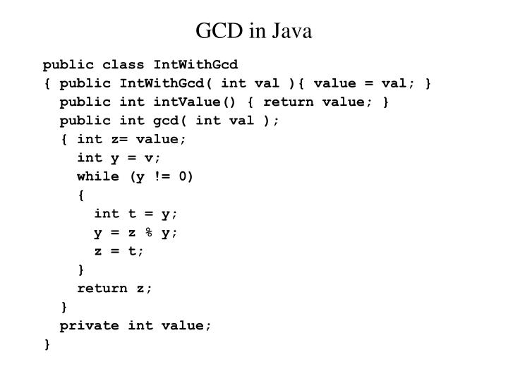 GCD in Java