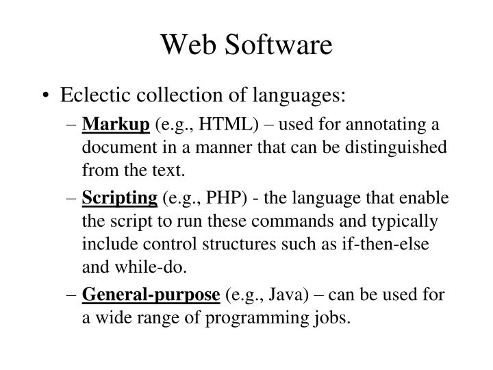 Web Software