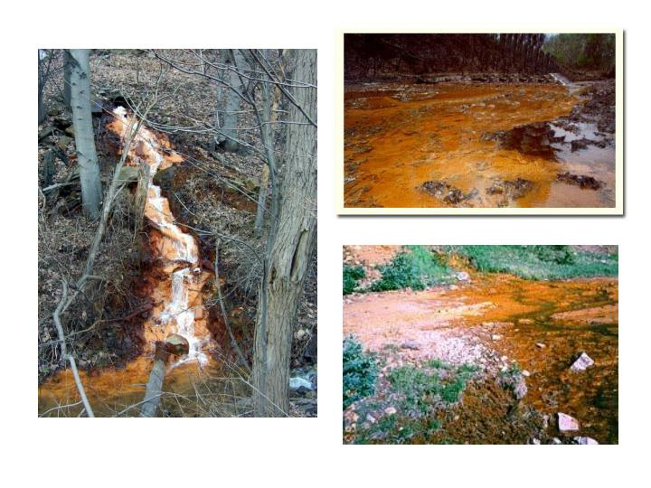 What is acid mine drainage