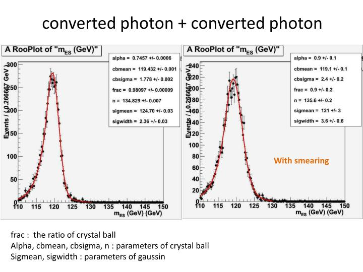 converted photon + converted photon